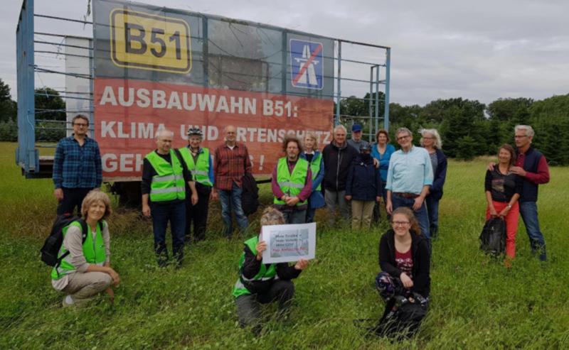 BUND Mitglieder aus Münster machen sich stark gegen den Bau der B51