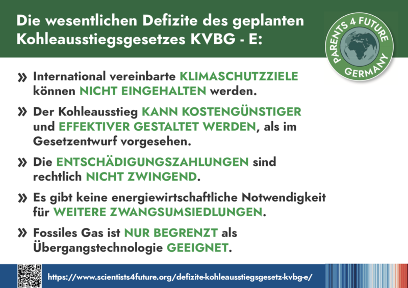 Defizite des geplanten Kohleausstiegsgesetzes KVBG - E